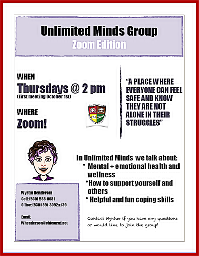 Flyer showing group meeting